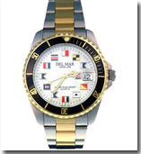 Del Mar Nautical Face Watch for Dive and Boating