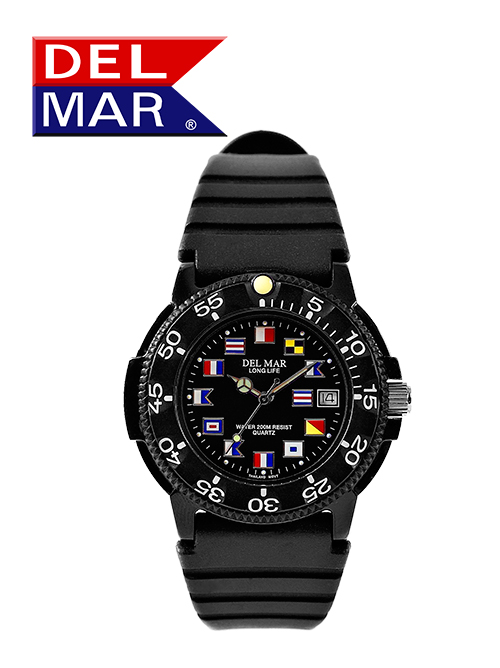 Men's Dive 200 Black Nautical Dial