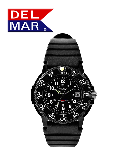 Men's 200 Meter Black Dial PU Watch