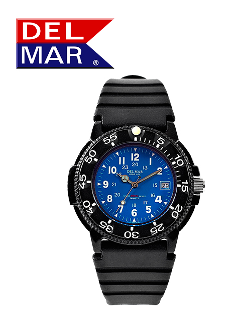 Men's 200 Meter Blue Dial PU Watch