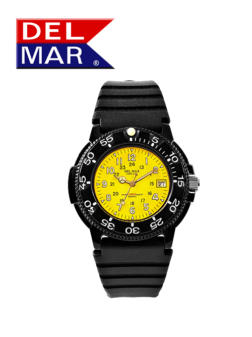 Men's 200 Meter Yellow Dial PU Watch
