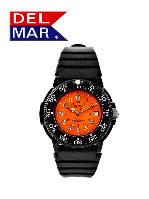 Men's 200 Meter Orange Dial Watch