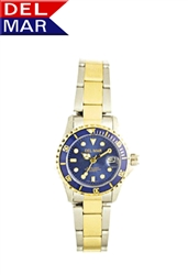 Ladies Two Tone Blue Dial Watch