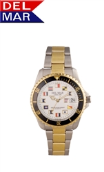 Men's Two Tone Nautical Dial Watch