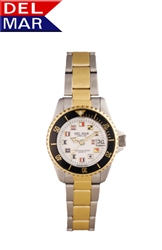 Ladies Two Tone Nautical Dial Watch