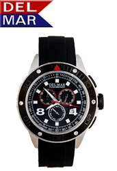 Men's Rugged Sport Chronograph 100 Meter Watch from Del Mar Watches