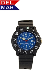 Ladies 200 Meter Blue Dial PU Watch