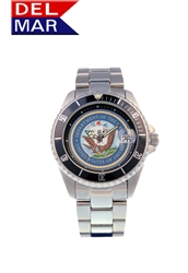 Navy Men's Stainless Steel Case Watch
