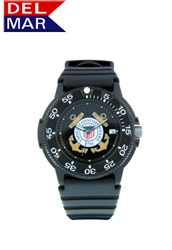 Coast Guard Men's Black Case Watch