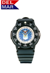 Air Force Men's Black Case Watch