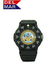 Army Men's Black Case Logo Watch