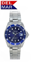 Men's Stainless Steel Blue Dial Watch