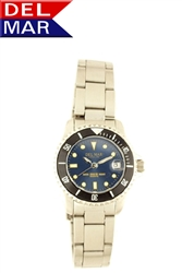 Women's Stainless Steel Blue Dial Watch