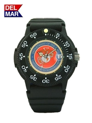 Marine Black Case Logo Watch