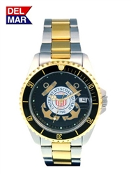 Coast Guard Men's Two Tone Case Watch