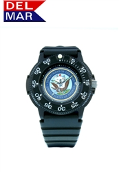Navy Men's Black Case Dial Watch