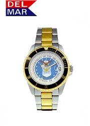 Air Force Men's Two Tone Case Watch