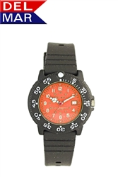 Ladies 200 Meter Orange Dial Watch